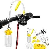 Iriisy Kit de Purga de Aceite Mineral de Freno de Disco hidráulico de Bicicleta Montaña Profesional para Shimano MAGURA TEKTRO SRAM Herramientas de Reparación de Bicicleta