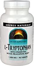 Source Naturals L-Tryptophan 2000mg Serving with Vitamin B-6 - Essential Amino Acid Supplement - 90 Tablets