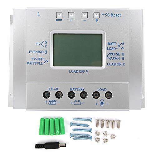 Jeanoko Regulador de batería Cargador Controlador de Carga Solar Controladores de energía renovable MPPT Corriente de Voltaje Pantalla LCD 12V24V60A
