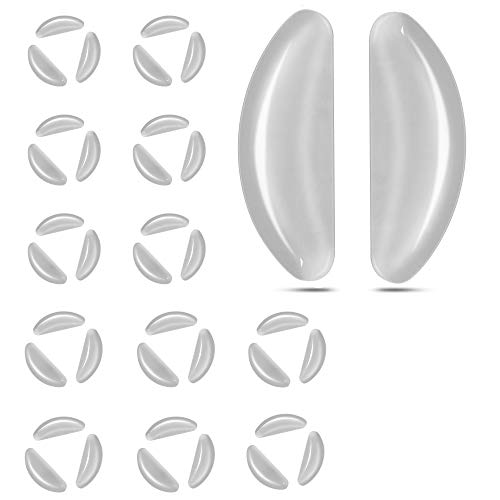 18 Pairs Butterfly Eyeglasses Nose Pads, 2.5mm Transparent Non-Slip Silicone Stick on Nose Pads (US-CBTFNP-Clear)