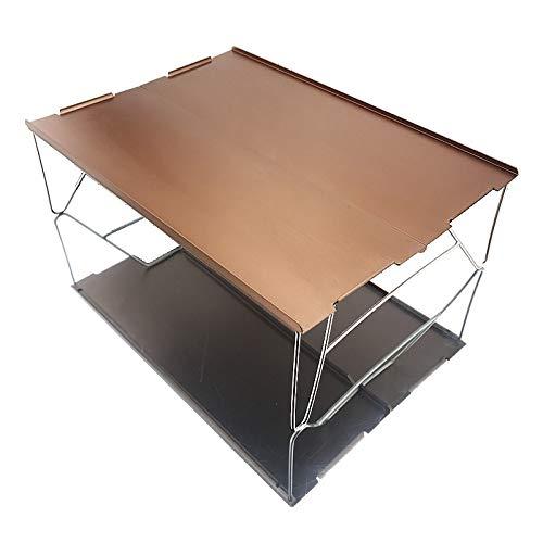 KOLOSM Mesas Portátiles Plegables Aligerar la Mesa de Picnic Ultralight Mini Camping Muebles para Viajes a la Playa Mesa Plegable (Color : 03)