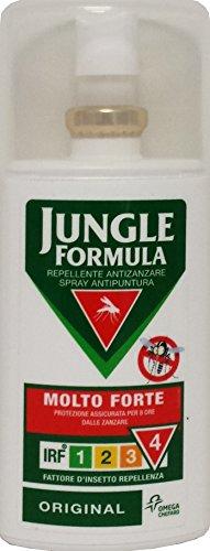 6 x JUNGLE FÓRMULA Repelente Pulsera antimosquito Spray Muy brillante Fuerte 75Ml