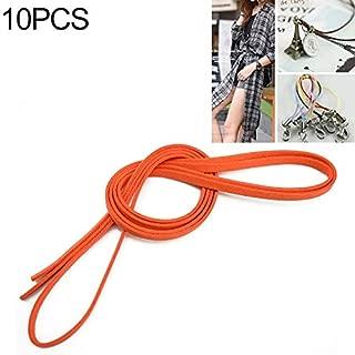 Clothing Accessories 10 PCS Buckleless Sanded Suede Leather Fine Waist Rope Dress Decorative Belt for Women, Length: 1.5m(Black) (Color : Orange)