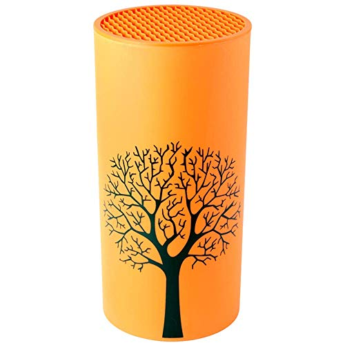 L.BAN Porte-Outil Couteau Support de Cuisine Bloc Support Orange Tables de Cuisson Tube étagère multifonctionnelle Barre Barbecue Ensembles de Couteaux