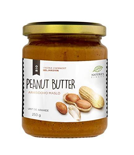 Manteca de cacahuete 100% orgánica y sabrosa | 250g | Sin azúcar añadido, sin aceite de palma | Crujiente tostado original | Fácil de digerir | Compatible con dietas Vegana, Paleo y Keto.