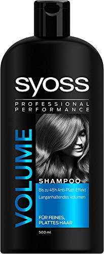 2 x champ profesional SYOSS por cada 500 ml de volumen de larga duracin