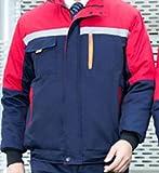 Reflektorweste Warnweste Reflektierendearbeitskleidung Männer Frauen Jacke Mantel Winter Verdicken Supermarkt Werkstatt Overalls Landwirtschaft Arbeitskleidung Outfit, Foto Farbe EIN Satz, XXXL