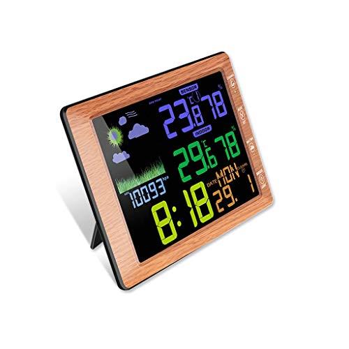 XF-B Termómetro Inalámbrico Higrómetro Estación Meteorológica Interior Y Exterior Temperatura Humedad Medidor Pantalla A Color Despertador