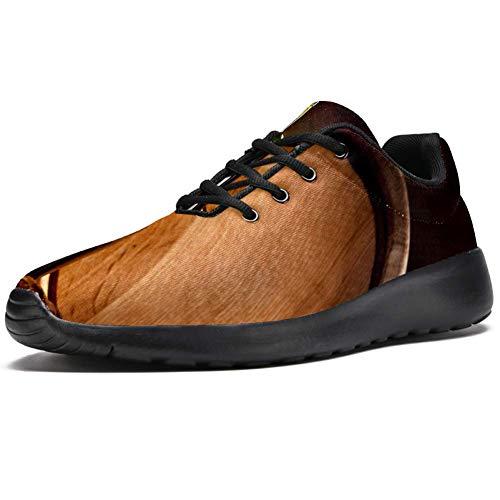 TIZORAX Zapatillas de correr para hombres de vidrio de vino tinto y barril moda zapatillas de deporte de malla transpirable caminando senderismo tenis zapato, color Multicolor, talla 47 EU