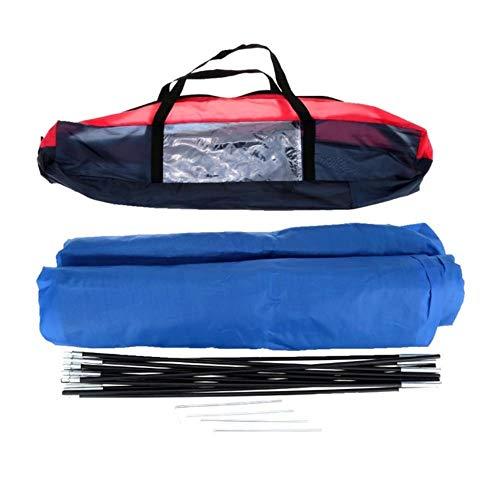 Markoo Tente de plage extérieure pour 2 personnes pour la pêche, la randonnée, l'alpinisme avec sac de transport 200 x 140 x 110 cm, bleu, CHINA