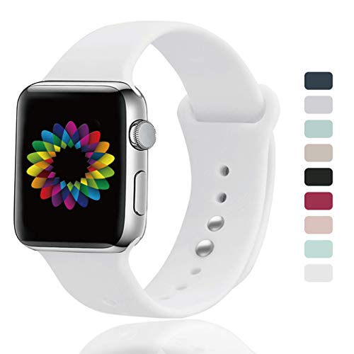 UPOLS Compatible for Apple Watch Band 38mm/40mm 42mm/44mm S/M M/L Sport Band for Women&Men. Strap Compatible for iWatch Series 5/4/3/2/1
