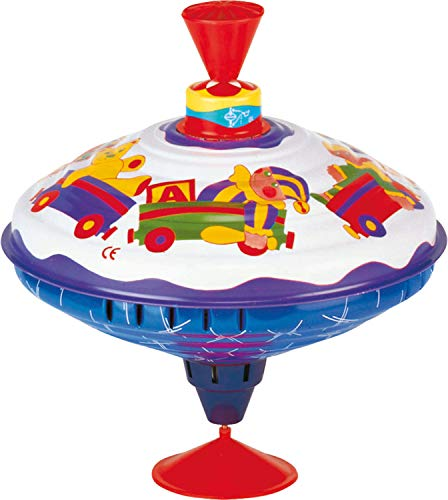 Bolz Playbox Music Spinning Top Toy for Children, The Funny Buzzing Hum Gets Louder As The Top Spins Faster, So Durable