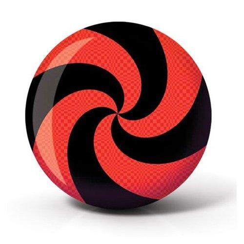Brunswick Spiral Viz A Ball Bowling Ball- Red/Black (15lbs)