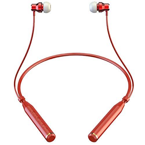 ZSHWP Bluetooth Headset Wireless mit mikrofon Noise Cancelling Stereo kopfhrer Faltbare drahtlose handsfree Handy wasserdicht kabellos freisprech Office Fahren,Rot