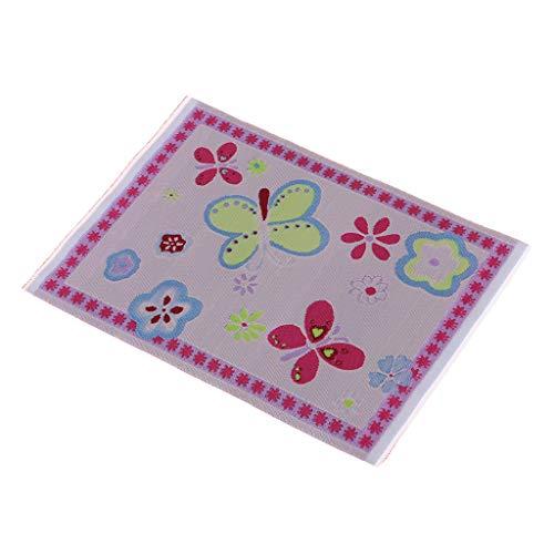 Baoblaze Miniatur Boden Teppichdecke Teppich gedruckte Tuchmatte für 1:12 Puppenhaus Wohnzimmer Zubehör - 14 * 10 cm - # 2