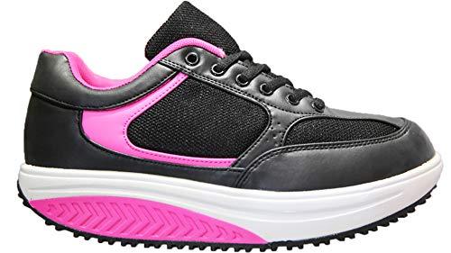 Mapleaf Adelgazar Zapatos Sneakers para Caminar Zapatillas Aptitud Cuña Plataforma Zapatos