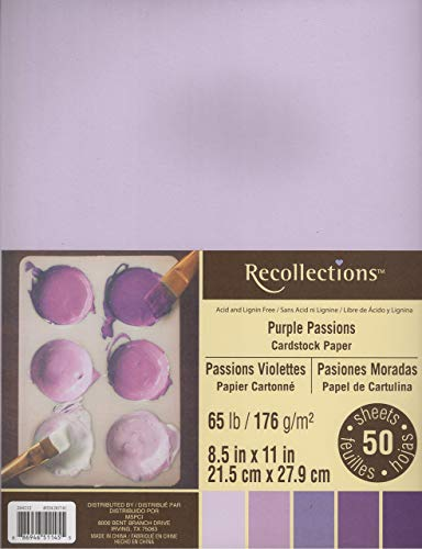 Recollections Cardstock Paper, 8 1/2' X 11' Purple Passion