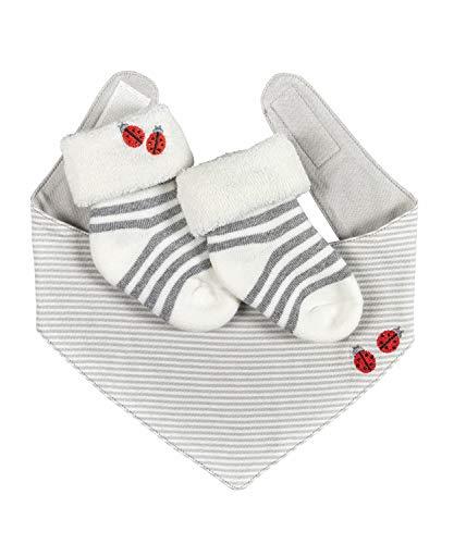 FALKE Unisex Baby Ladybug Set Socken, Weiß (Off-White 2040), 74-80