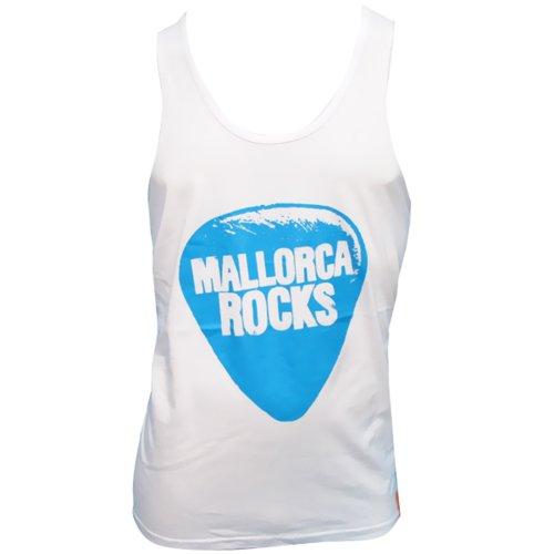 Mallorca Rocks: Débardeur Homme Plectre - Blanc, L - Large