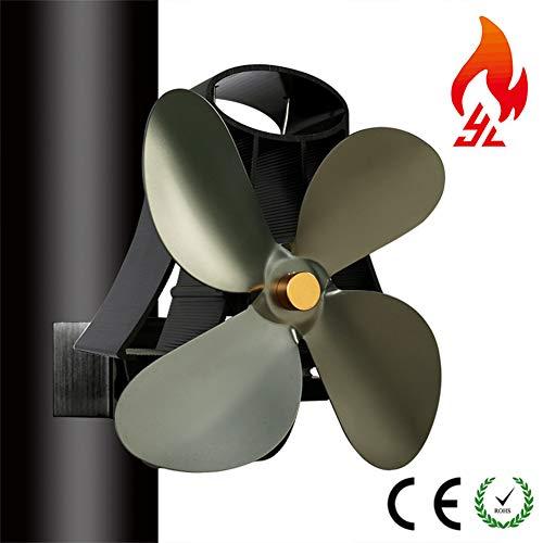 DADD 4 aspas ventilador de estufa de leña para estufa de le