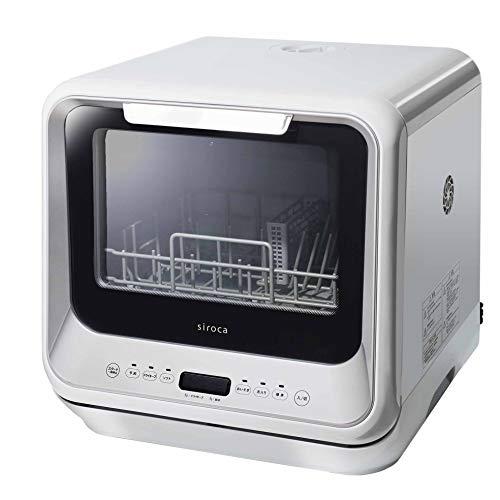 シロカ 2WAY食器洗い乾燥機[食洗機/工事不要/除菌率99.9%/分岐水栓対応/液晶表示付き/タイマー搭載/360℃キ...