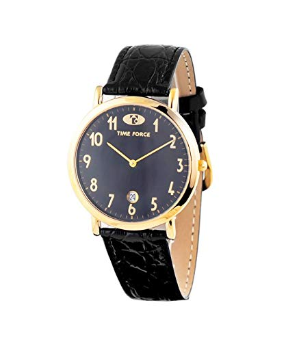 Time Force Reloj Analógico para Mujer de Cuarzo con Correa en Cuero TF1041M-17