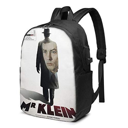 AOOEDM USB Backpack 17 in Mr. Klein USB Backpack 17-Inch Laptop Backpack Firm Bottom Men and Women Large School Bag