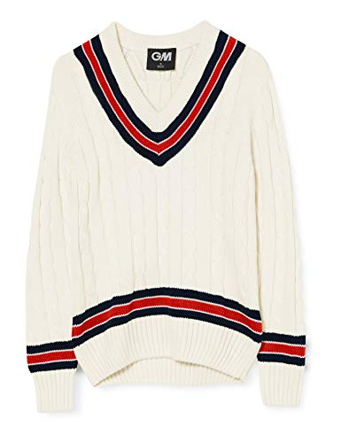GUNN & MOORE Cricket Pullover, Navy/Rot, M