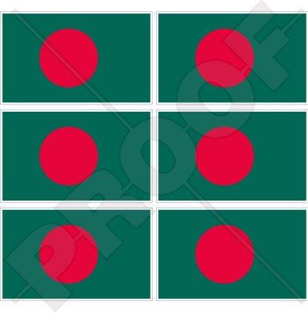 Bangladesch Flagge bangladeschs 40mm (40,6cm) Mobile, Handy Vinyl Mini Sticker, Aufkleber X6