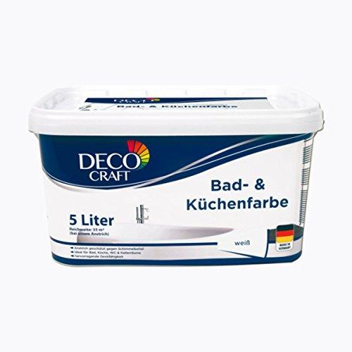 DECO CRAFT Bad- & Küchenfarbe 5 Liter Weiß Matt