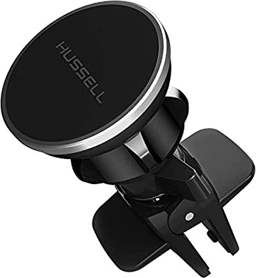 Magnetic Air Vent Car Phone Mount - 2019 Updated Version by HUSSELL - for Any Smartphone - Car Phone Holder - Universal Cell Phone Holder - Vent Phone Holder - Car Vent Mount - Air Vent Mount Holder