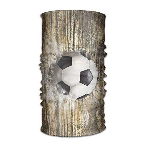 Voxpkrs Football On The Cement Wall Fashionable Outdoor Hundred Change Headscarf Original Multifunctional Headwear