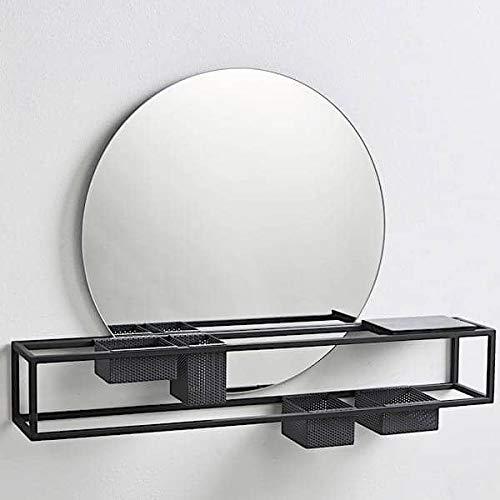 Le Miroir Mirror Box, système modulable en Acier - Noir Mat, métal, laqué époxy avec Miroir