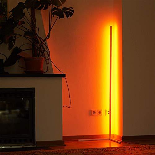 LED Stehlampe Ecke Dekoration 20W Eck standleuchte RGB Einstellbare Helligkeit mit Fernbedienung Für Schlafzimmer, Büro Beleuchtung,Weiß
