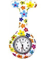 Tunica medica in silicone per infermieri, orologio al quarzo, a batteria, spilla impermeabile, design orologio, orologio da tasca per operai di assistenza sanitaria, infermieri e medici