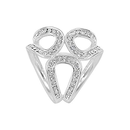 Carry stone Premium-Qualität Strass Frauen Seidenschal Ring Clip Schal Schal Schnalle Halter dekorative Pin