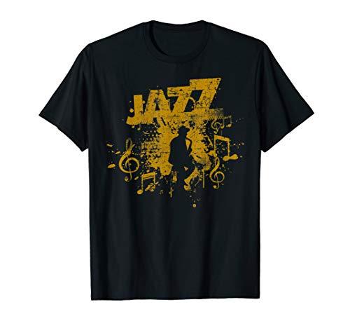 Jazz Musik Saxophon Saxophonist Saxofon T-Shirt