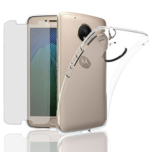Eximmobile Silikon Hülle + Panzerfolie für Motorola Moto G 2. Gen. Handyhülle mit 9H Echt Glasfolie Schutzhülle mit Schutzfolie Handytasche Silikonhülle Tasche Hülle Bildschirmschutzfolie Bildschirmschutz