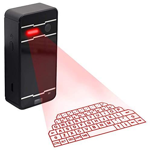 Eksesor Mini Teclado Bluetooth, Teclado Bluetooth proyección inalámbrica, Teclado Virtual portátil Recargable, para teléfonos Inteligentes y tabletas