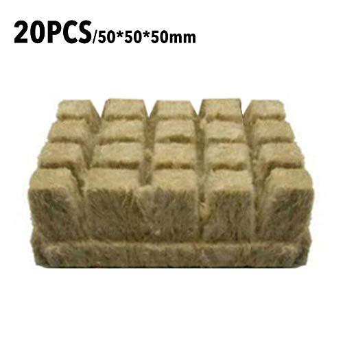 certainoly Rockwool Grow Cubes Bouchons de démarrage Rockwool Stonewool Starter Cubes pour Une Croissance vigoureuse des Plantes Coupe Clonage Propagation des Plantes Graine de départ