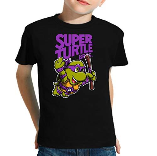 Camiseta de NIÑOS Tortugas Ninja Donatello Miguel Angel Raphael Leonardo 015 5-6 años