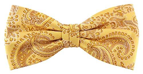 Designer Nœud papillon soie doré or jaune argent à motifs - Nœud papillon soie silk