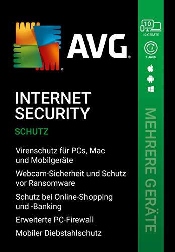 AVG Internet Security | Mehrere Geräte | 10 Geräte | 1 Jahr | |Download|PC, Laptop, Smartphone, Mac|12 monate| [Lizenz]|Download|Download|