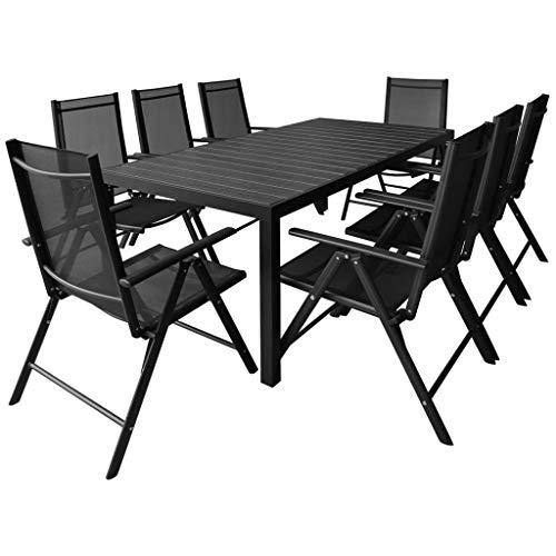 Directachat56 Salon de Jardin Aluminium/Composite pour 8 Personnes