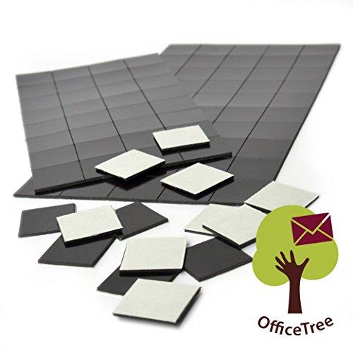 2 x 50 Magnetplättchen selbstklebend - 20 x 20 mm - für sichere Magnetisierung von Plakaten Fotos Papier - extra starke Haftkraft an Whiteboard Magnet-Tafel Pinnwand - schwarz