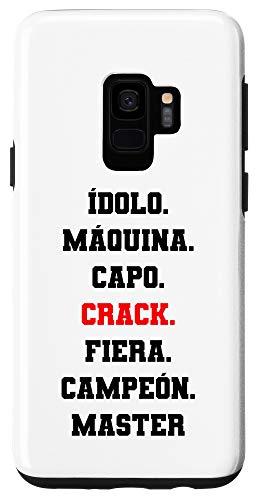 Galaxy S9 Idolo Maquina Capo CRACK Fiera Campeon Master Diseño Chingon Case