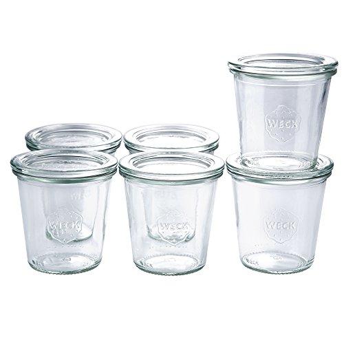 12 x Weckglas Sturz-Form/Dekoglas/Fingerfood Glas inkl Deckel | Inhalt 290 ml