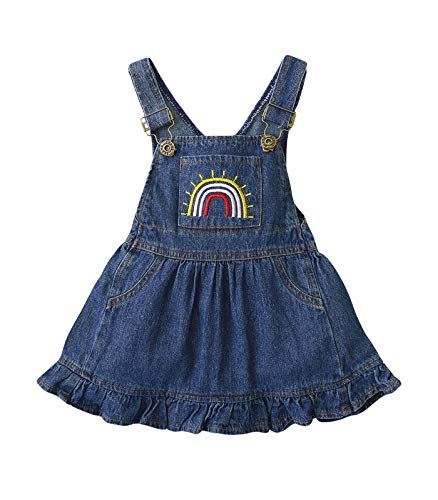 (50% OFF) Rainbow Jean Romper Dress $7.00 – Coupon Code