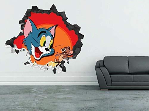 Pegatinas de pared Barking pared calcomanía niña nombre personalizado etiqueta 3d vinilo decorativo Kids