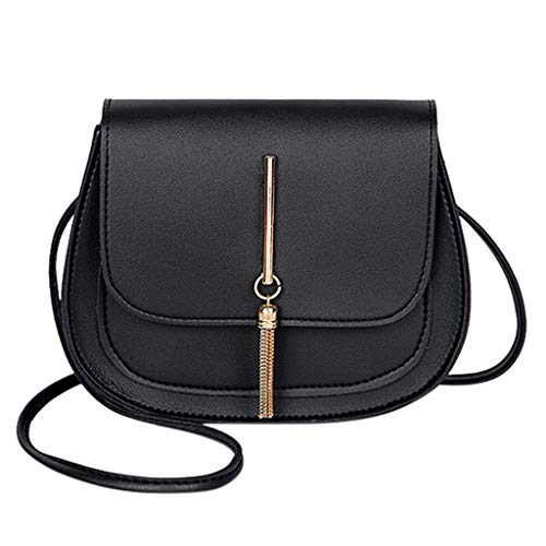 Lowest Price! Toimothcn Womens Simple Shoulder Bag with Tassel Solid Color PU Leather Messenger Bag ...